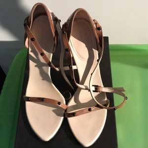 Authentic Gucci Logo Heel Sandals Size 6.5